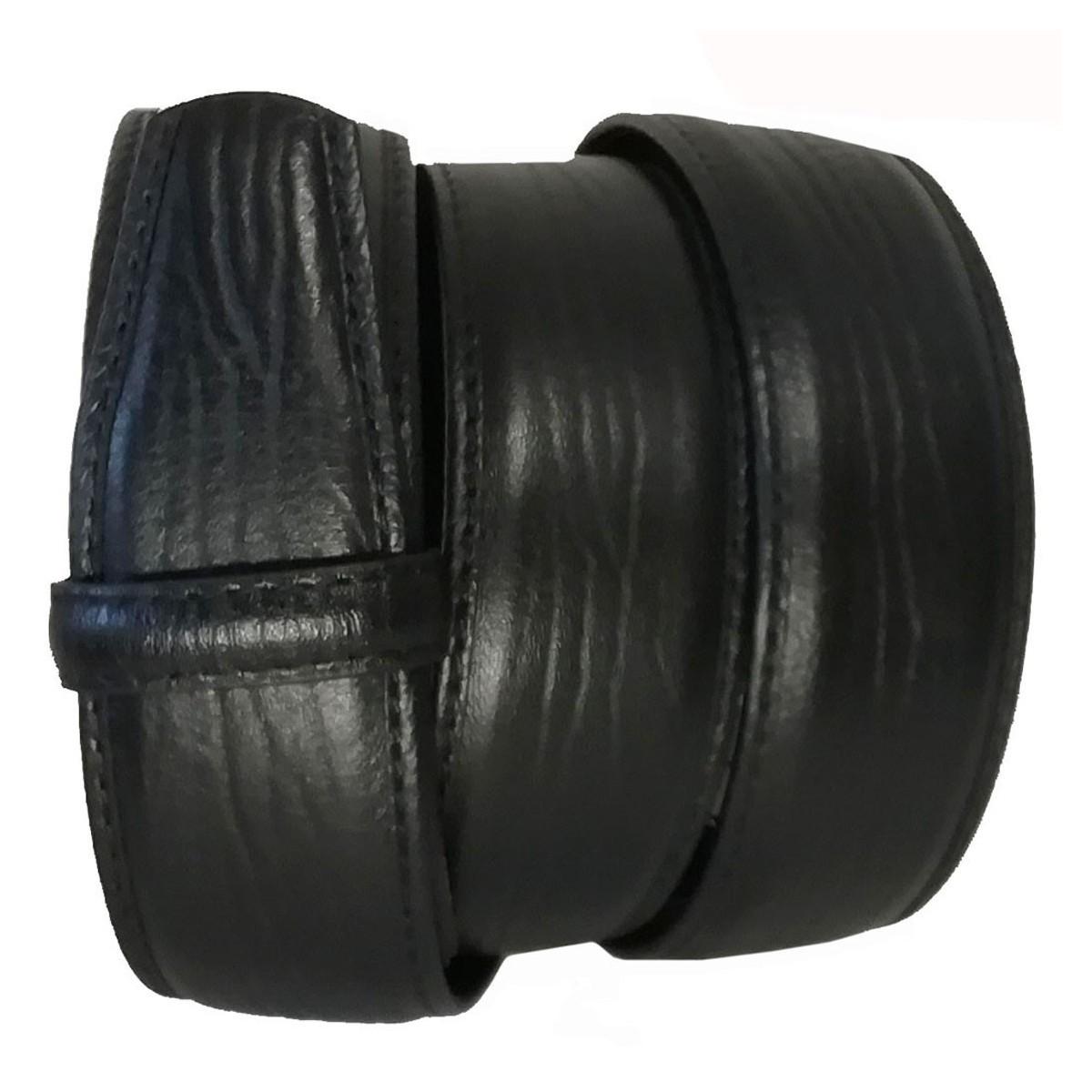 Lanière cuir pleine fleur finition Branche Noire pour ceinture à boucle automatique