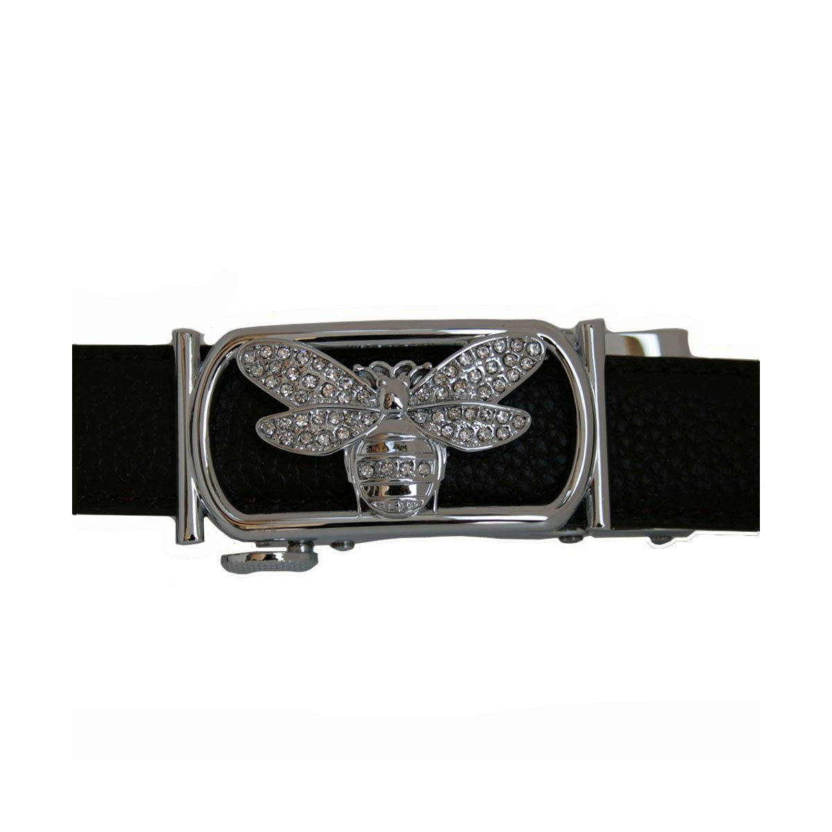 Boucle Petit Papillon argentée pour ceinture Femme gamme Lady