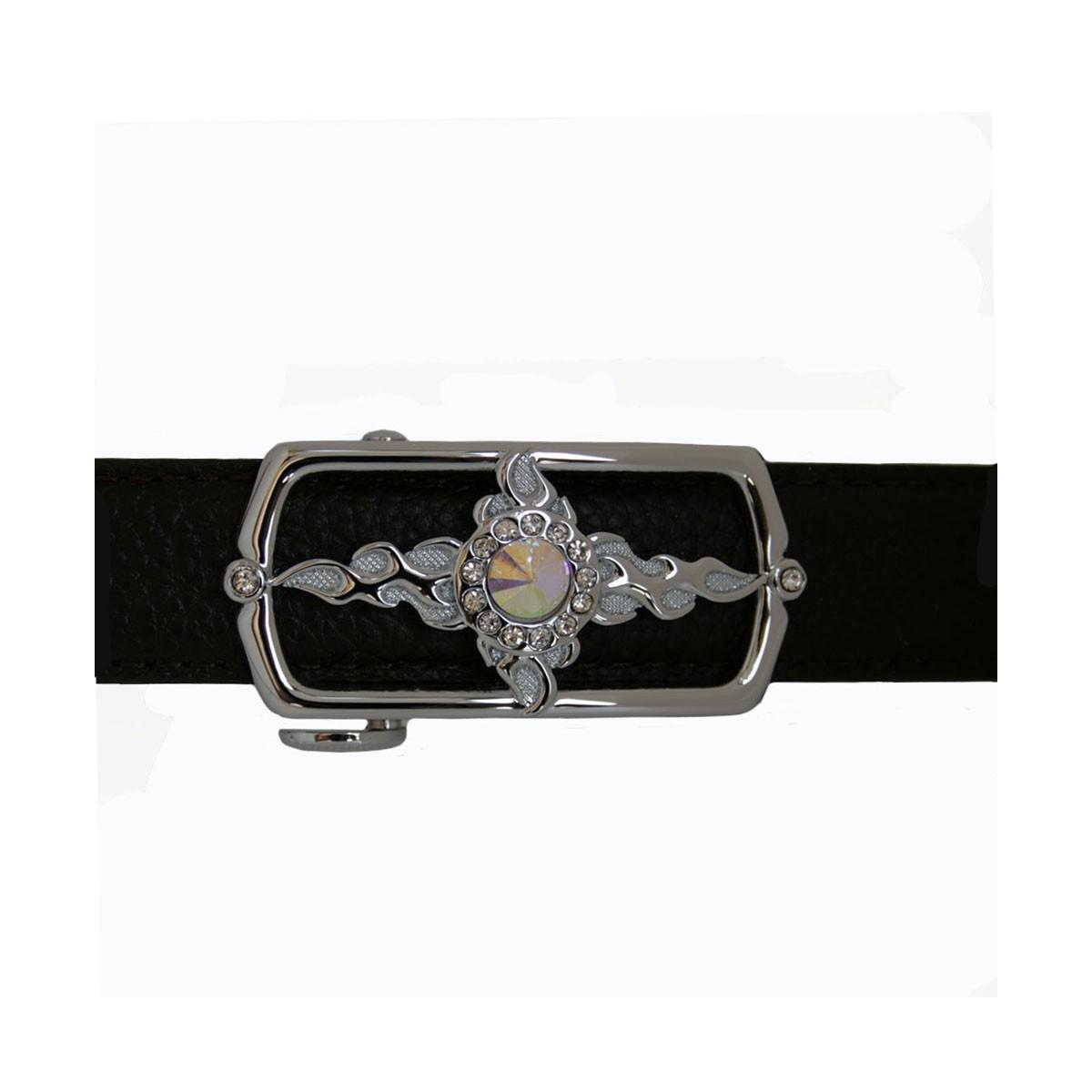 Boucle Etoile argenté pour ceinture Femme Lady à fermeture automatique