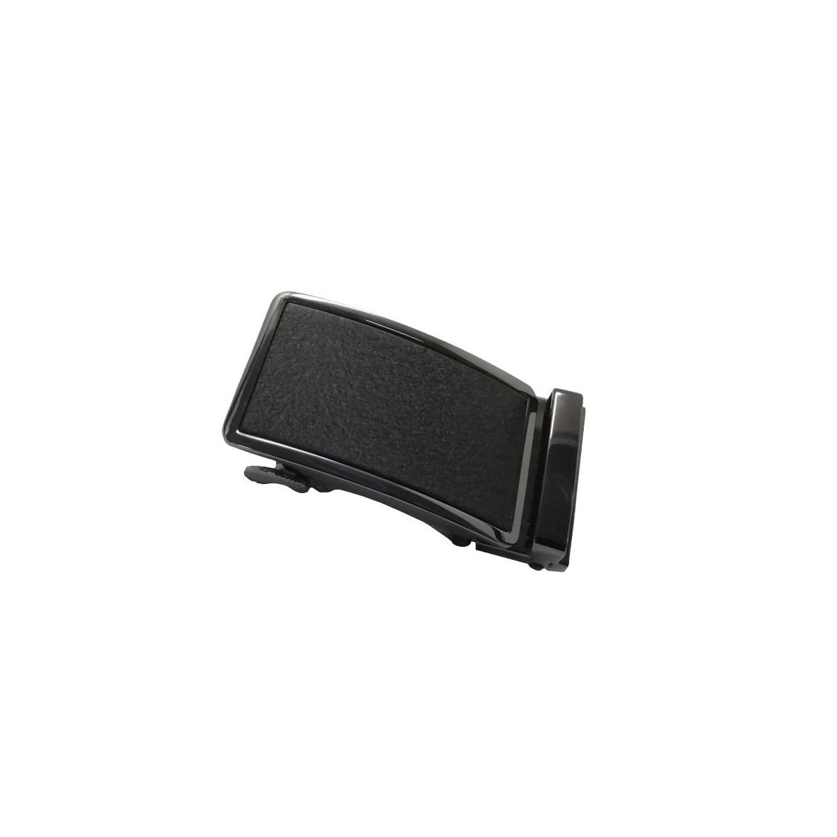 Boucle de ceinture homme centre noir mat granité avec cadre noir