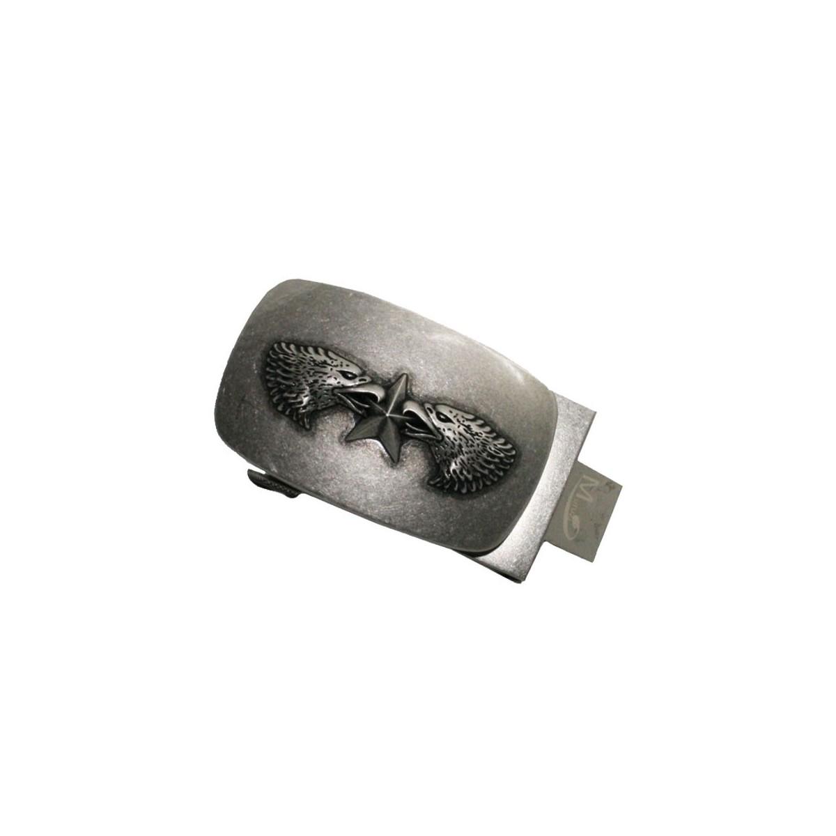 Boucle de ceinture homme 2 Têtes d'aigle chinois style ceinturon cadre acier