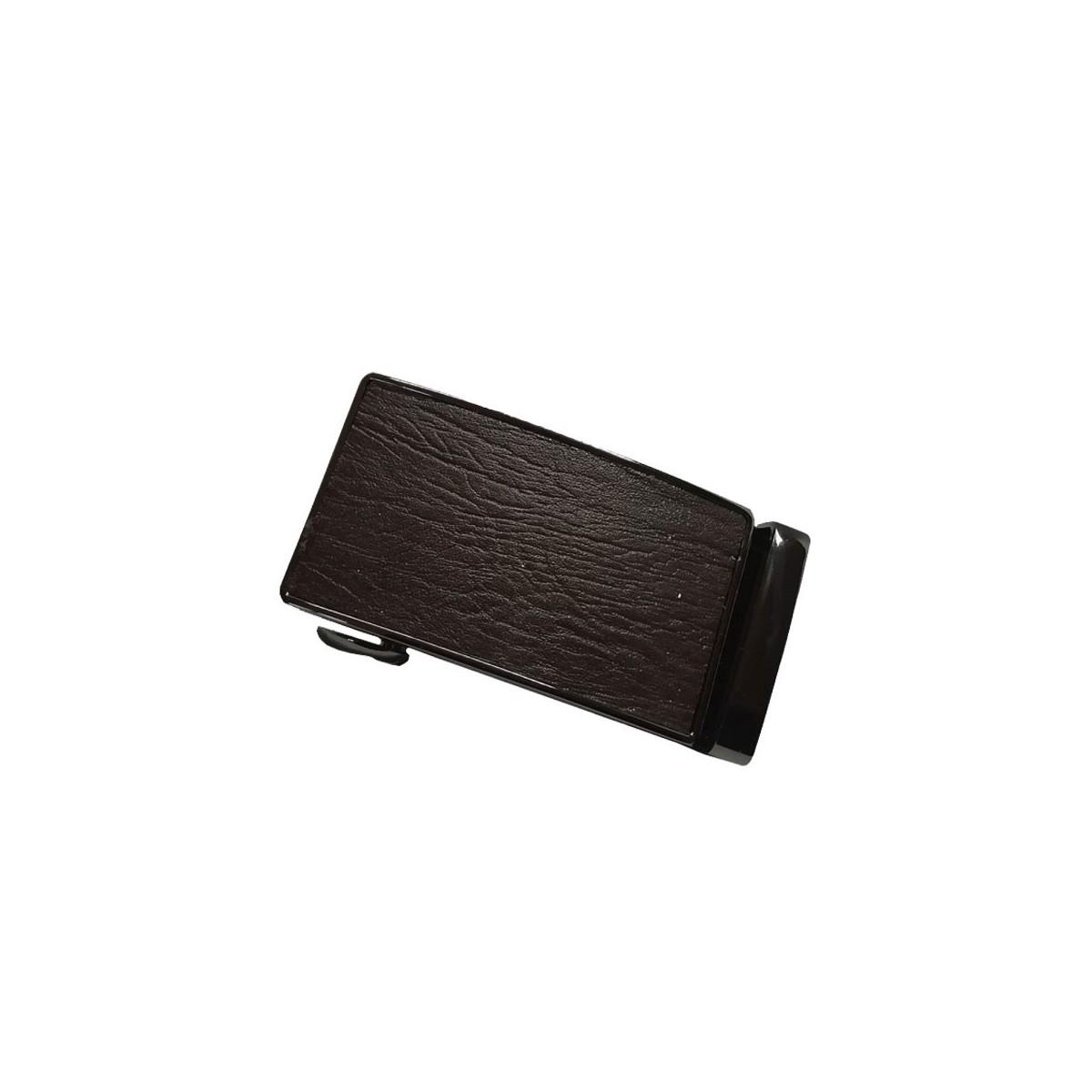Boucle de ceinture motif branche marron cadre bronze