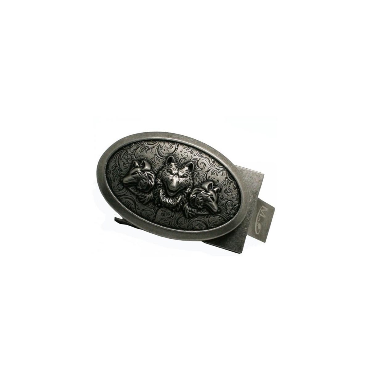Boucle de ceinture homme Loups style ceinturon ovale cadre acier