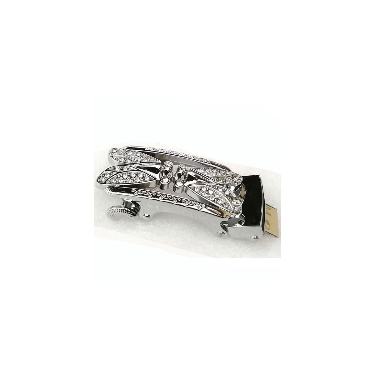Boucle Cigales argentées pour ceinture Femme Lady