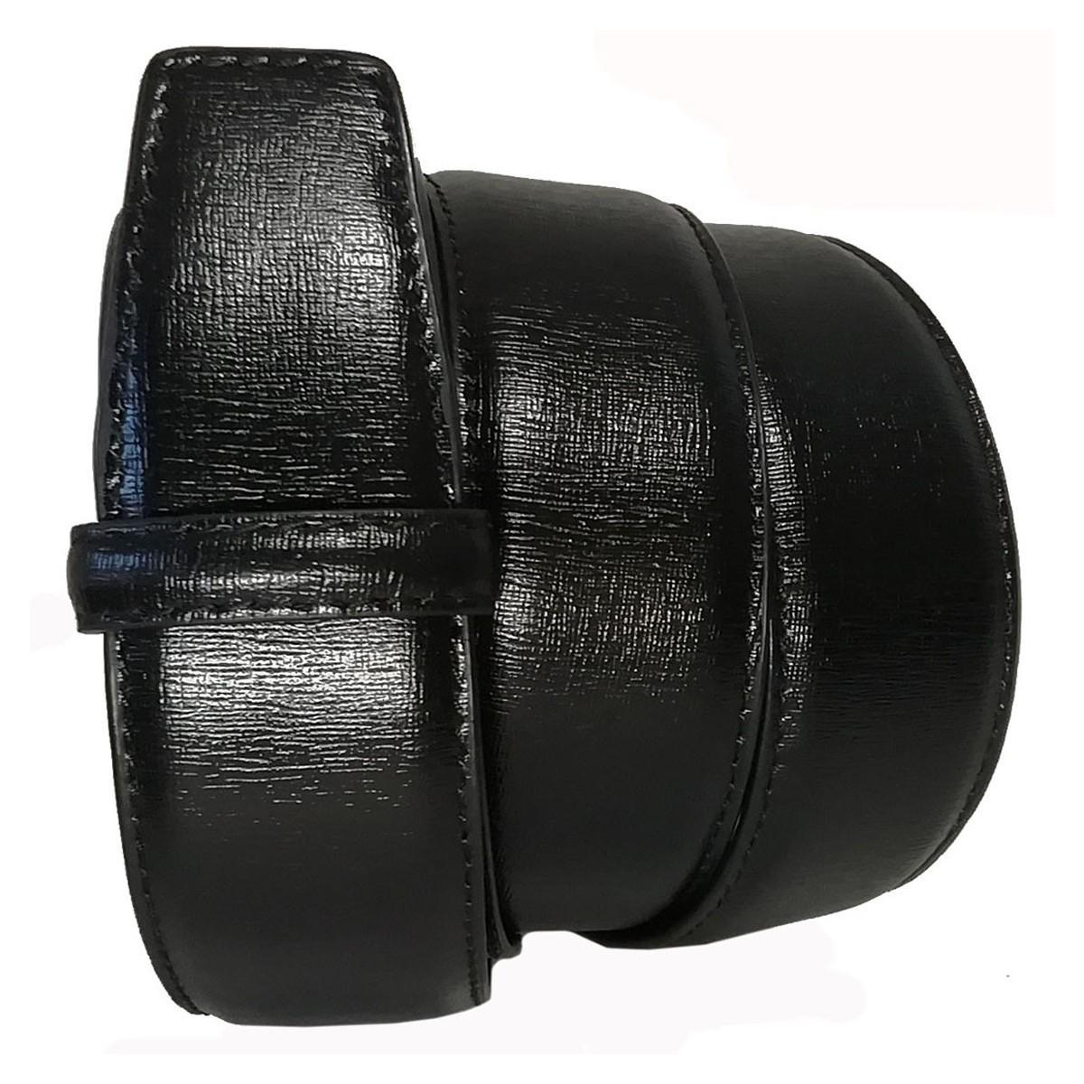 """Lanière cuir pleine fleur haut de gamme Tissu noir finition """"les chic"""""""