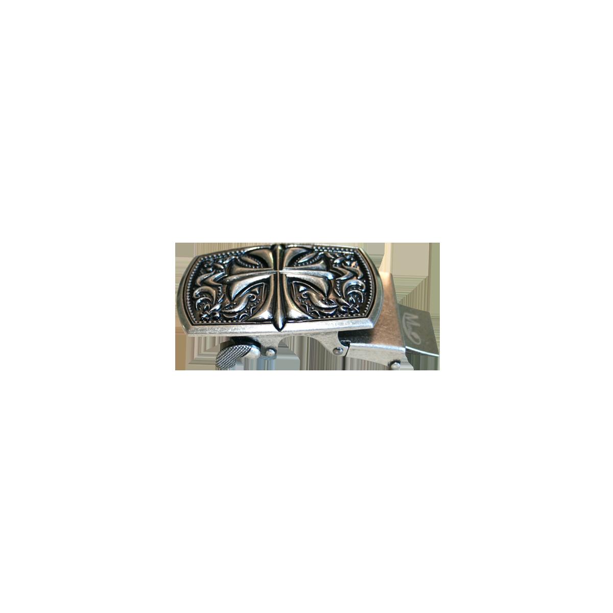 Boucle de ceinture homme Croix de Malte style ceinturon cadre acier